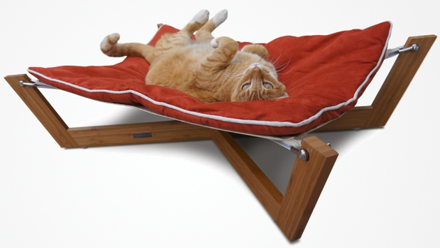 22 cozy furniture ideas for your beloved cat - How to make a pet hammock ...