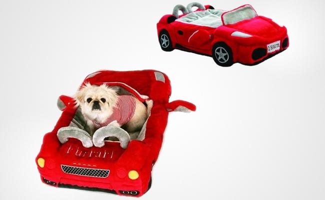 red furrari pet bed. Black Bedroom Furniture Sets. Home Design Ideas
