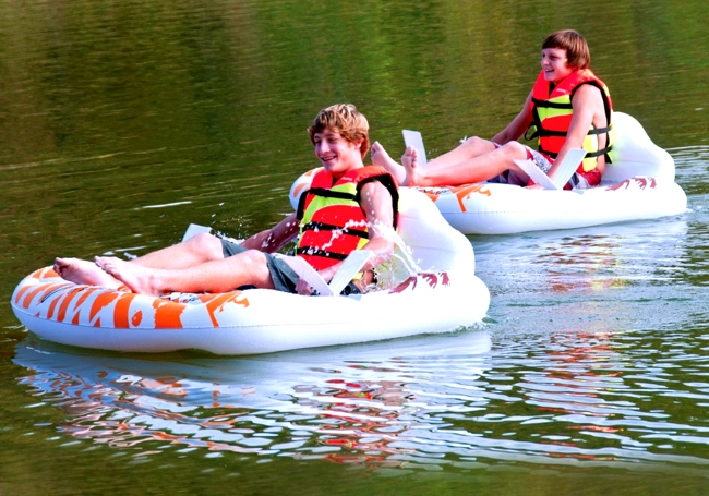 The Inflatable Hand Pedal Boat