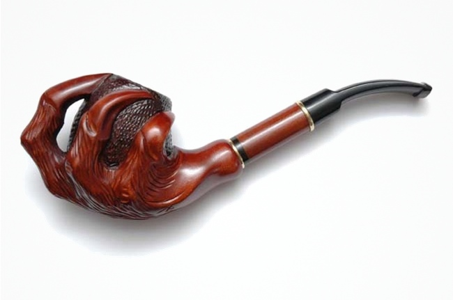 Pear Wood Hand Carved Tobacco Smoking Pipe Claw
