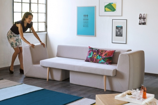 For All The Single Bachelors And Bachelorettes Who Live In Teensy  Apartmentsu2013 This One Is For You. The Sofista Is A Puzzle Esque, 4 In 1 Sofa,  Armchair, ...