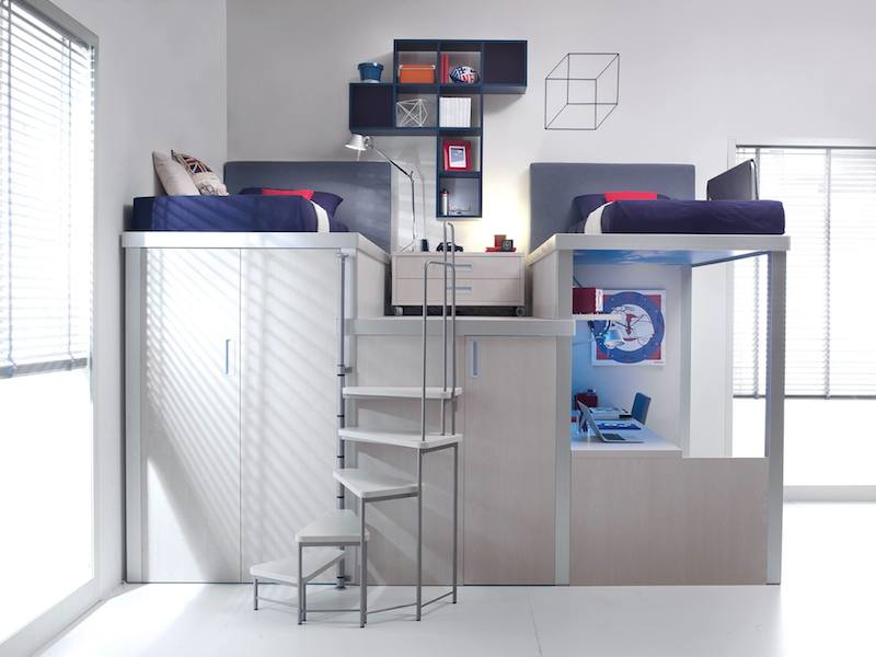 image space saving bedroom. The Following Arrangements From New Collection Of Space-saving Bedroom Sets By Italian Furniture Manufacturer Tumidei Will Surely Inspire You. Image Space Saving E