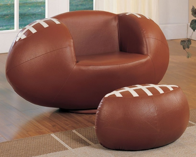 Superieur Whether Your Child Is A Fan Of Football, Baseball, Basketball, Or Soccer,  Hereu0027s A Line Of Sports Related Chairs And Ottomans They ...