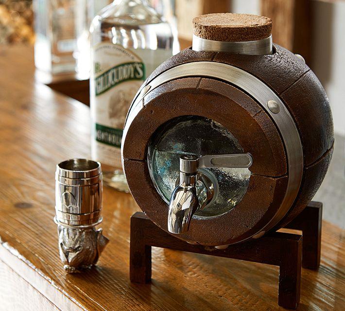 Whiskey Barrel Drink Dispenser A Bar Favorite