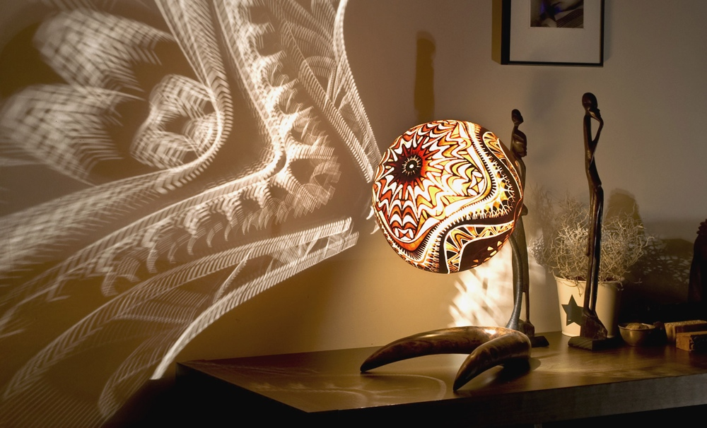 Calabarte Lamps Carved From The Calabash Gourd Fruit
