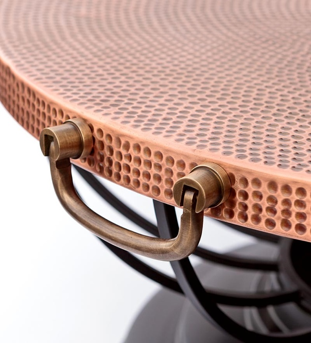 Beau ... It Can Be Converted To A Side Table Thanks To The Included Fitted  Copper Lid. A Mesh Spark Guard And A Matching Poker In A Weatherproof Black  Finish Are ...