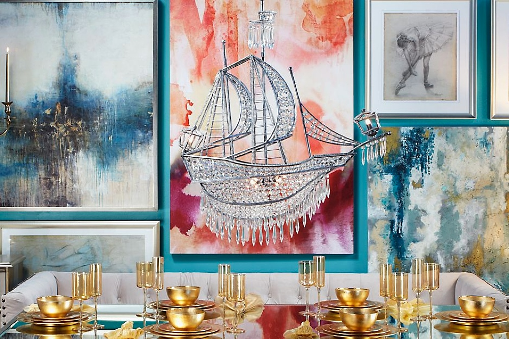 Crystal pirate ship chandelier mozeypictures Choice Image