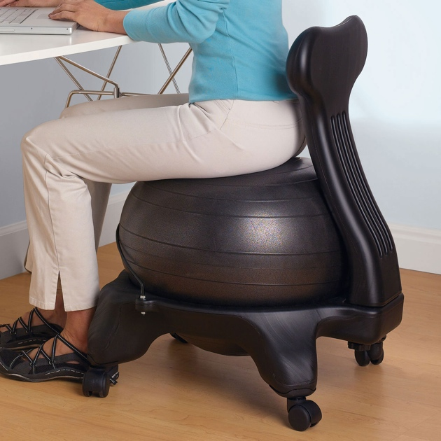 Improve Your Posture With The Balance Ball Chair By Gaiam