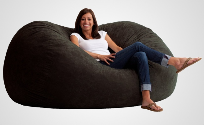 The Fuf Memory Foam Oversized Beanbag Chair