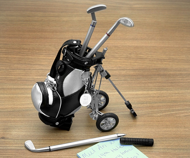 Golf Club Pen Set With Golf Bag On Cart Model Golf Bag Cart Pen Holder on golf cart trophy, forklift pen holder, golf cart tape dispenser, golf cart organizer, golf bag pen holder, golf cart radio, golf cart mugs, golf cart batteries, golf cart keychain, golf cart bags, golf cart tray,
