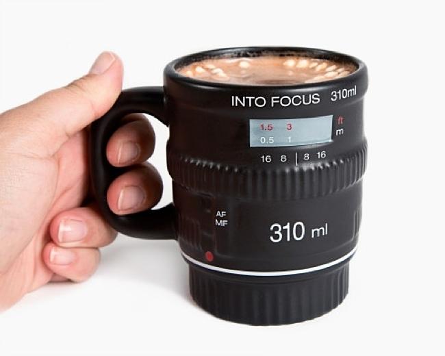 Into Focus Camera Lens Mug