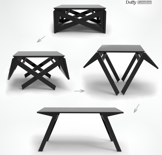Mk1 A Coffee Table That Converts In Seconds Into A Dining Table