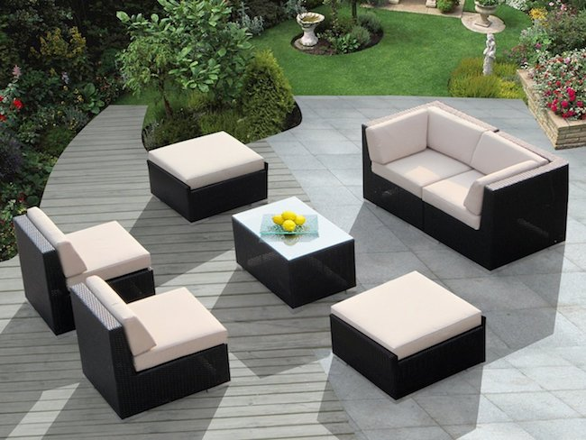 Create A Beautiful Outdoor Seating Area With This Modern 7 Piece Patio Set  And Its Unique Modular Design. Carefully Handmade From Resin Wicker, ...