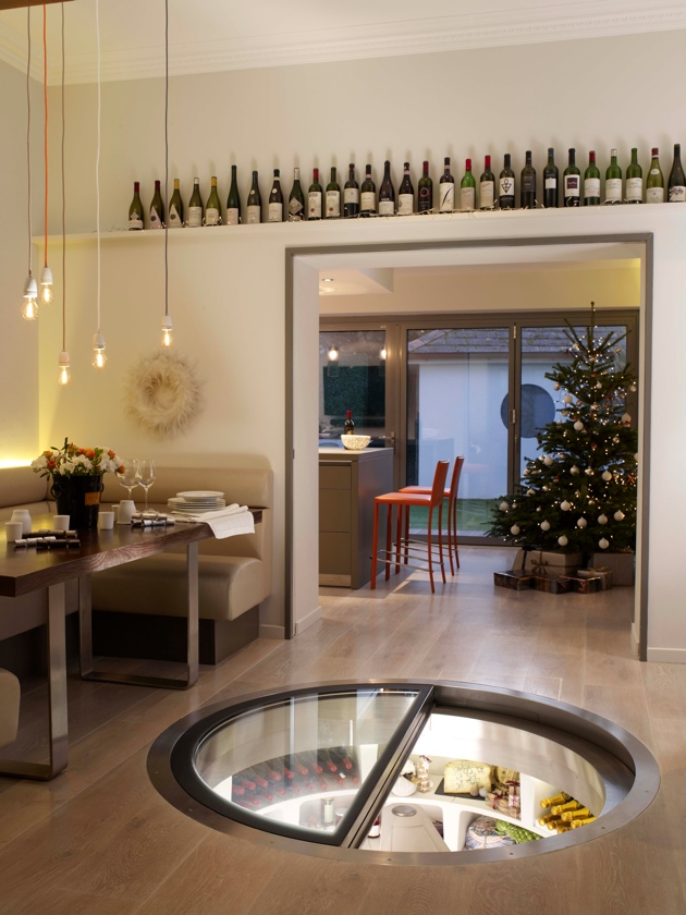 Spiral cellars underground wine storage system for Garage wine cellar