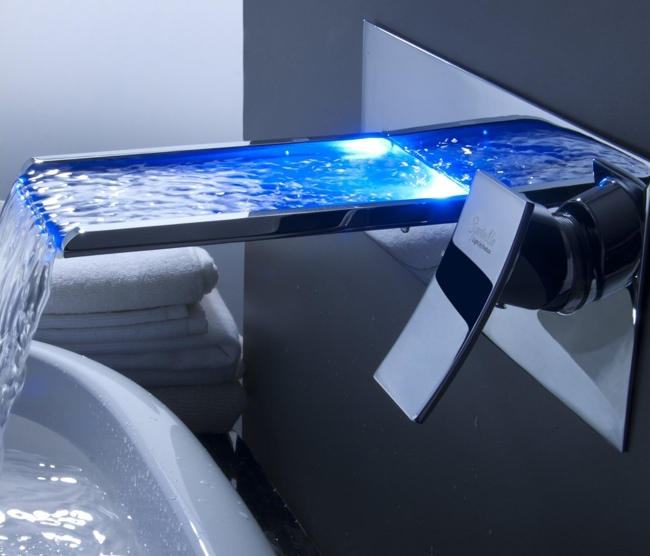 Sprinkle Color Changing Led Waterfall Faucet