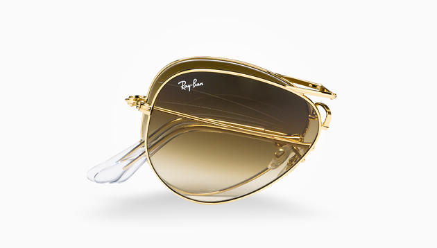 Ray Ban Aviators Brown And Gold