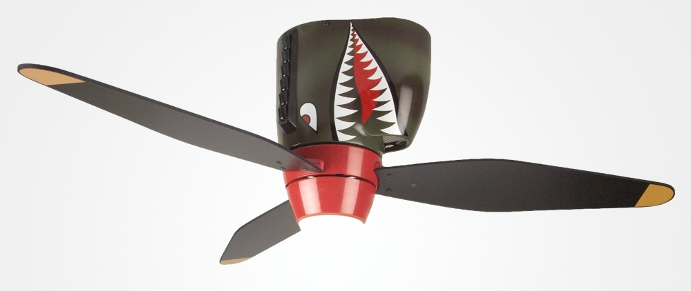 Tiger shark warplane ceiling fan aloadofball Image collections