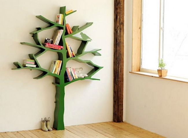 bookshelf large of togootech shaped size online com tree bookcase spruce