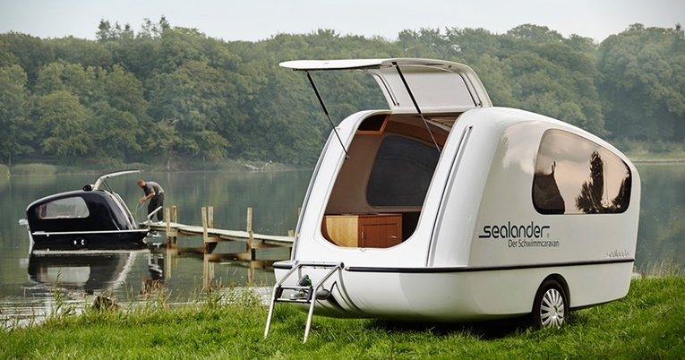 6ecb72f1f3 A Towable Trailer That s Both a Camper and a Boat – Sealander