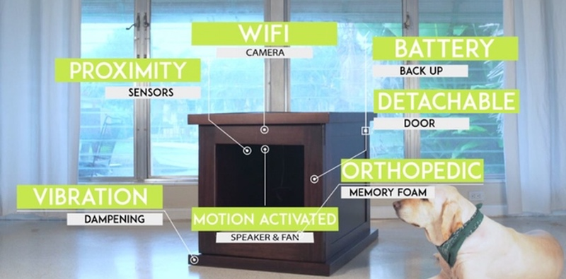 Ease your dog39s worries with this smart animal crate for Wifi dog crate