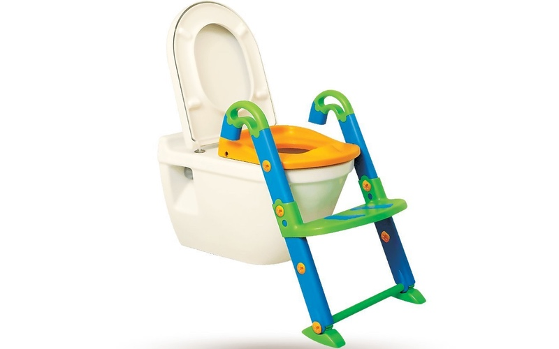 Itu0027s skid proof so the feet wonu0027t slip away if your child is a wiggly worm. The seat can be detached from the ladder when they get big enough to stand ...  sc 1 st  Droold & Help Your Child Love Potty Training with The Potty Ladder