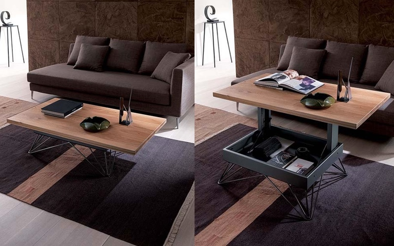 The Ozzio Transformable Coffee Table Turns Your Traditional Into One With A Hidden Storage