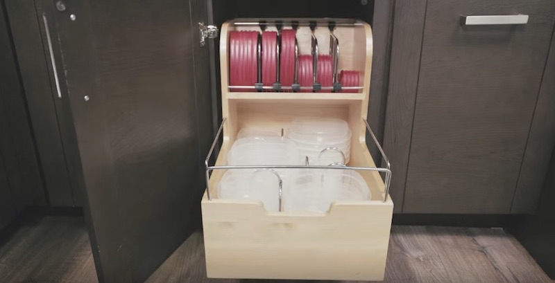 The Rev A Shelf 4FSCO Is A Food Storage Container Organizer That