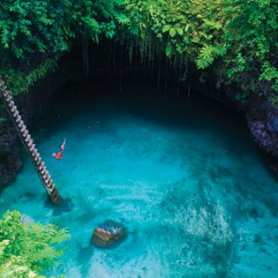 The Amazing Water Hole – To Sua Ocean Trench, Upolu Island in Samoa