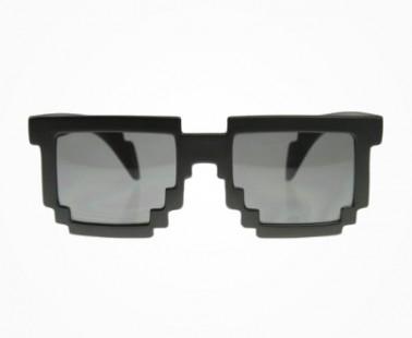 Pixelated 8-Bit Geeky Glasses