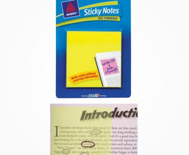 See-Through Sticky Notes