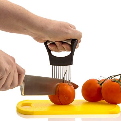Never Worry About Slicing Your Hands Again With The Veggie Holder