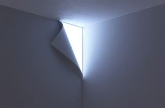 A Light That Gives The Illusion Of A Wall Peeling