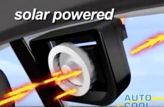 The Solar Powered Auto Cooling Fan System Keeps Your Car Cool Even When It's Parked in the Sun