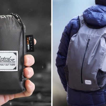 Backpack Folds into the Size of a Cellphone