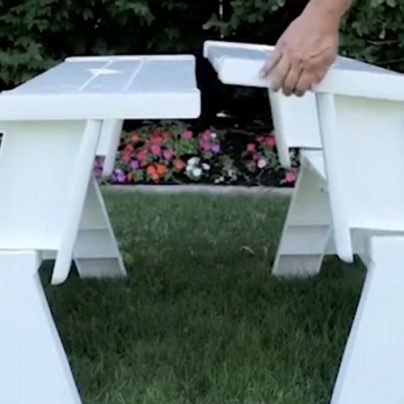 Convert-A-Bench Is the Ultimate Bench and Table Combination for Your Backyard