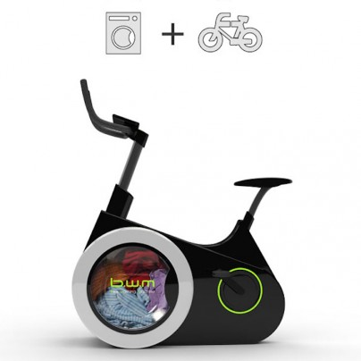 Bike Design Lets You Wash Your Clothes While You Exercise
