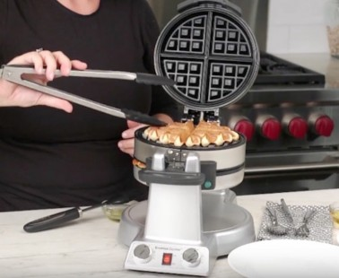 The Cuisinart Breakfast Express Lets You Make Waffles and Omelettes at the Same Time