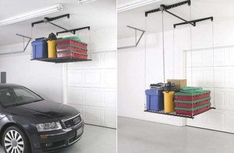 This Cable-Lifted Storage Rack Will Make Your Garage The Talk Of The Block