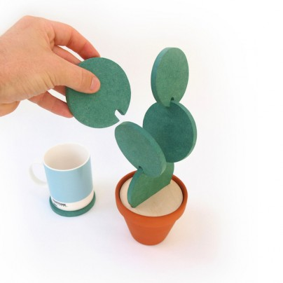 Cacti Coasters Are A Stylish Way To Store Your Coasters