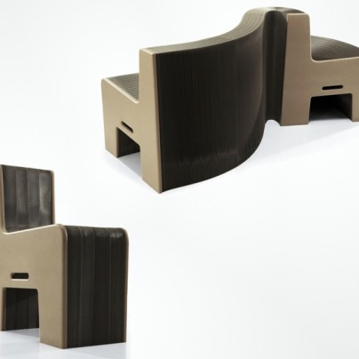 The Chair That's Also A Couch, Love Seat Or Whatever You Want It To Be. And It's Made Of Paper.