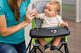 Portable, Foldable Highchair is About to Make Being On-the-Go with Baby Much Easier