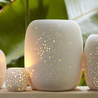 Constellation Pierced Porcelain Lanterns