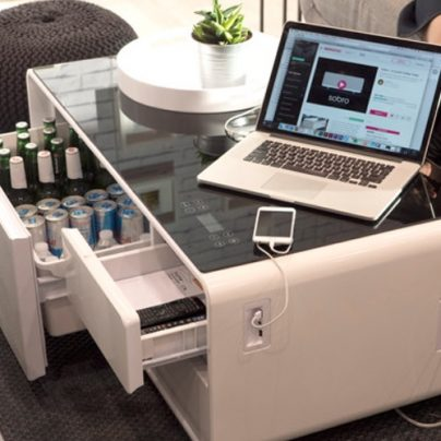 Sobro Is a Fridge, Coffee Table and Charging Station Rolled into One