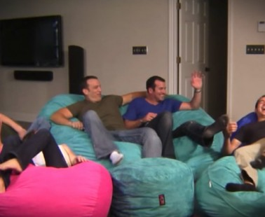 The CordaRoy's Bean Bag Chair Converts to a Full Sized Bed!