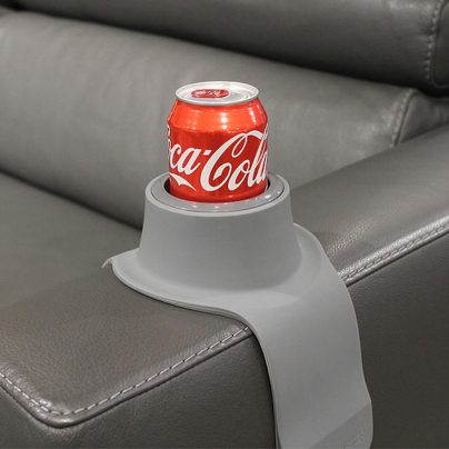 This Coaster Can Hold Your Drink on the Side of a Couch!