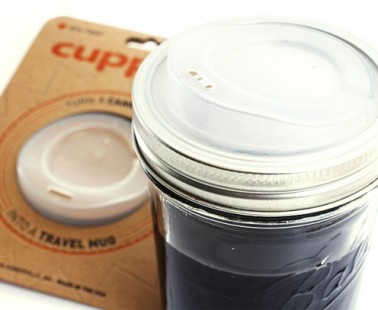 Turn a canning jar into a travel mug with CUPPOW