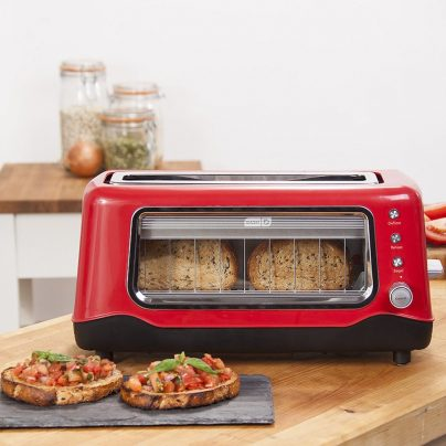 The Dash Clear View Toaster Has A See Through Window So You Don't Burn Your Toast