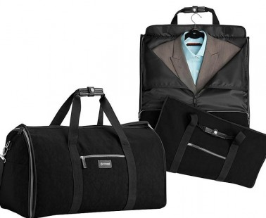 Have A 2-In-1 Garment Bag And Duffle Bag With The Biaggi Hangeroo!