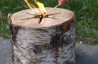 The Chemical-Free Fire Log That Can Be Lit With One Match