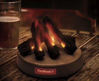FireWood – Relax To The Crackling Sound & Flickering Light Of This Desk Fireplace